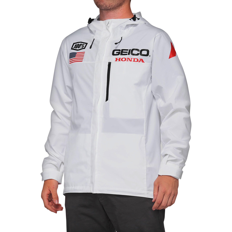 Black 100/% 2020 Men/'s Team Geico Honda Salvo Hoody Sweatshirt