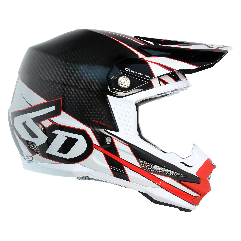 140deb1b 6D Helmets® 10-2516 - ATR-1 Carbon Electric Medium Red/White Off ...