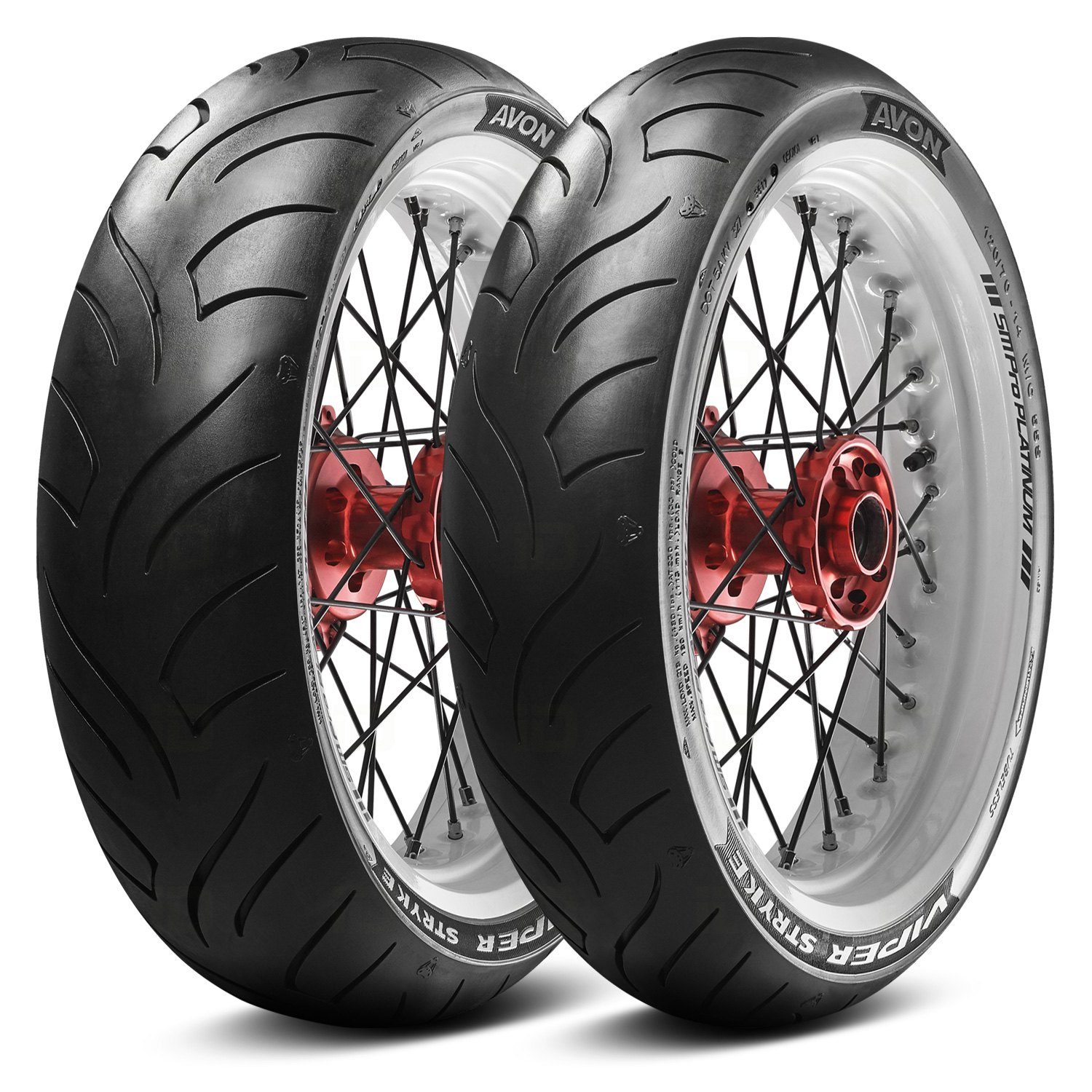 Avon Tire Viper Stryke Front//Rear Scooter Tire 90//90-14