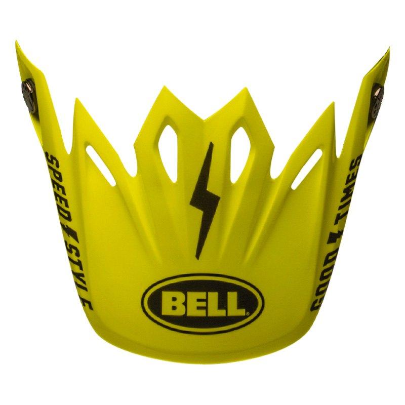 99eb291a Bell® 7086424 - Moto-9 Fasthouse Black/Flo Yellow Visor ...