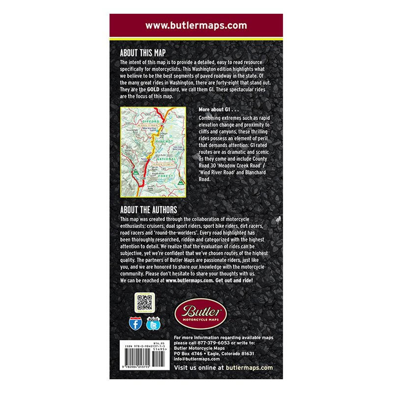 BUTLER MAPS G1 Series Maps Washington State MP-118