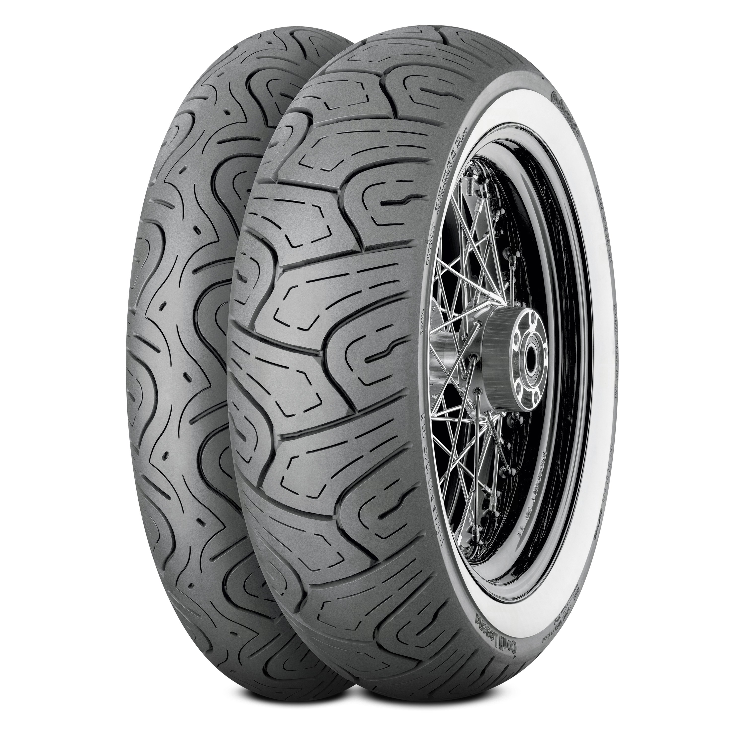 130//80-17 Continental Conti Legend Front Tire Wide Whitewall