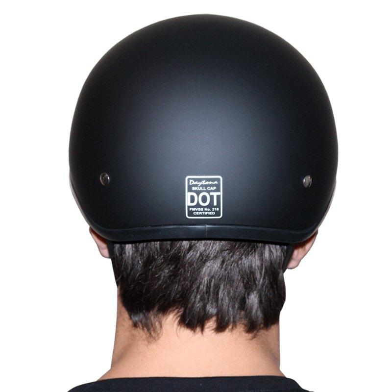 Daytona Helmets Skull Cap Open Face W// SNAKE SKULLS DOT Motorcycle Helmet D6-SS
