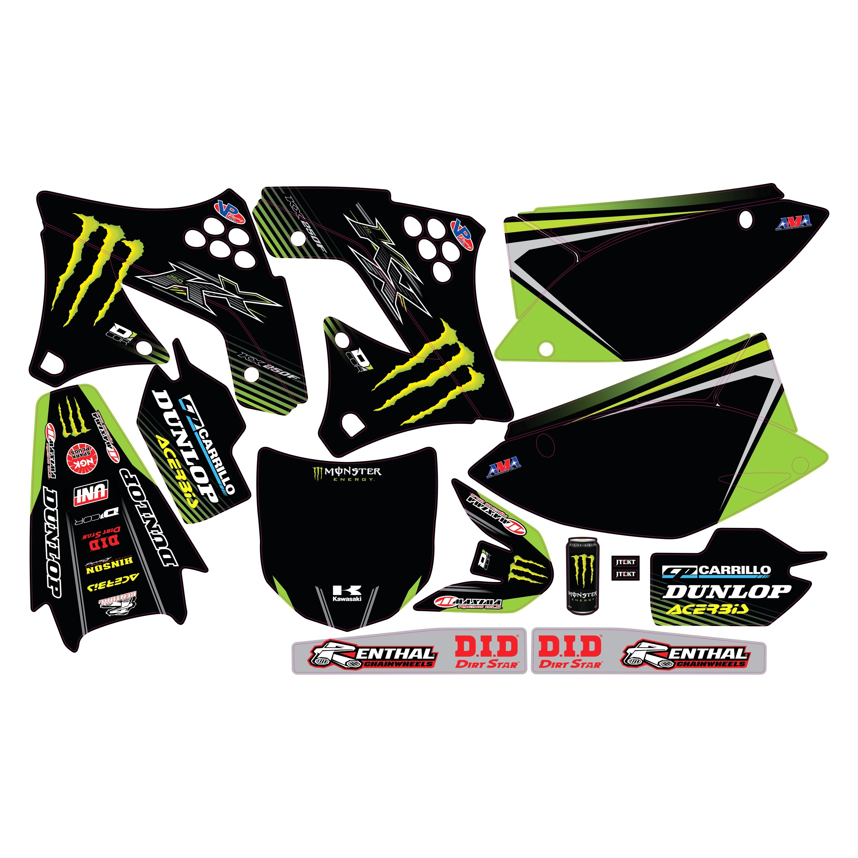 D'cor Visuals® 20-20-618 - 2018 Monster Energy Complete Graphic Kit