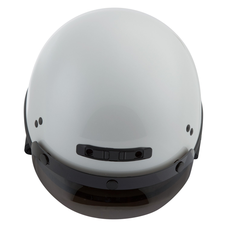 GMAX GM35 Full Dress Motorcycle Half Helmet Pearl White Choose Size