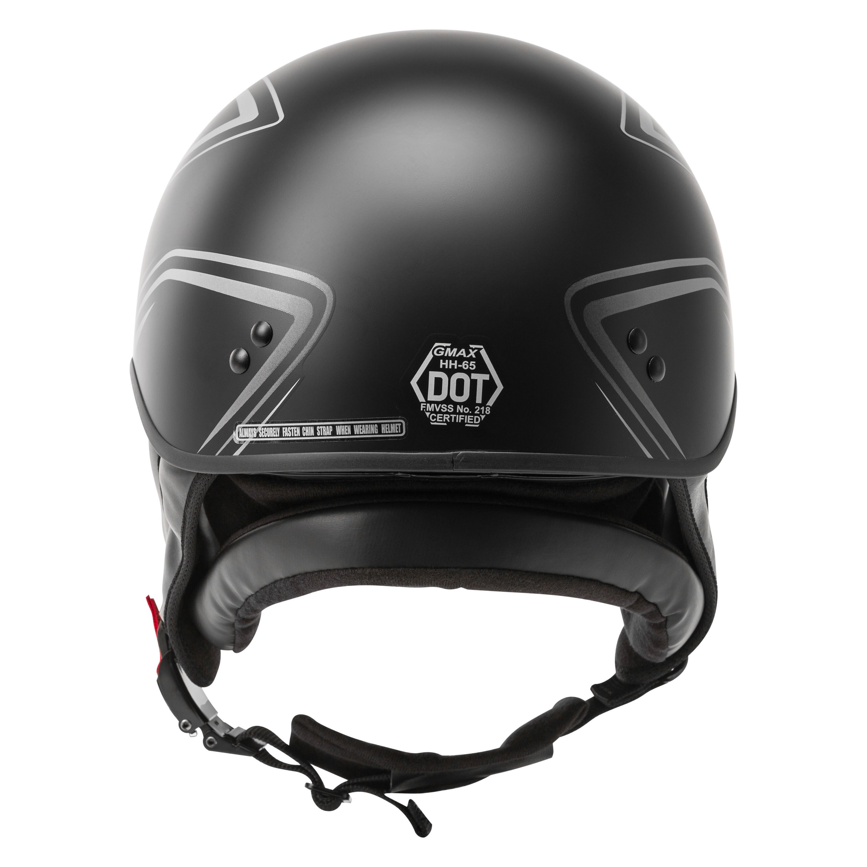 GMAX HH-65 Naked Ritual Helmet Half Shell Motorcycle