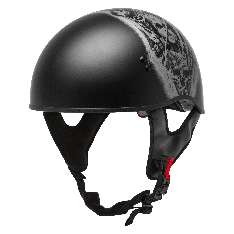 GMAX HH-65 Naked Bravery Half Motorcycle Helmet Matte