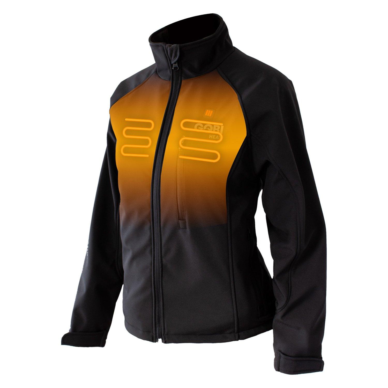 Womens Heated Clothing >> Gobi Heat Wsa On S Sahara 3 Zone Women S Heated Jacket Small Onyx