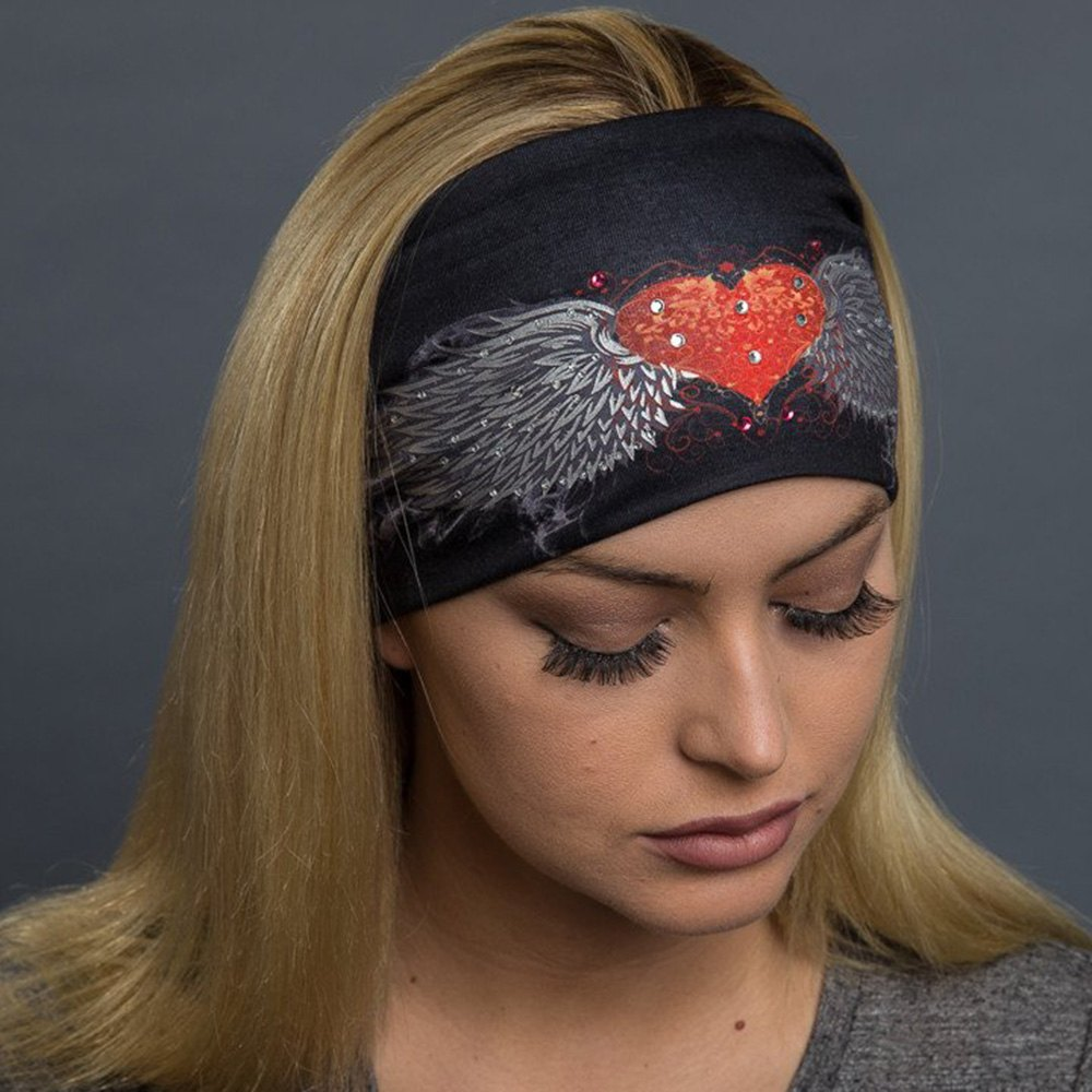 Hair Glove® 50043 - Women s Tribal Heart Wings Foil EZ Bandz ... dd438755afa