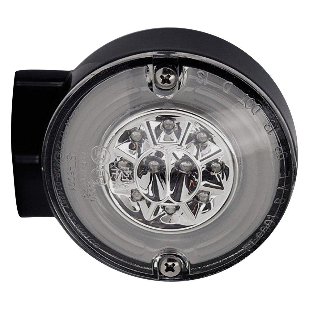 HardDrive HALO LED Rear Turn//Stop Signal w// Smoke Lens For Harley Chrome 164500