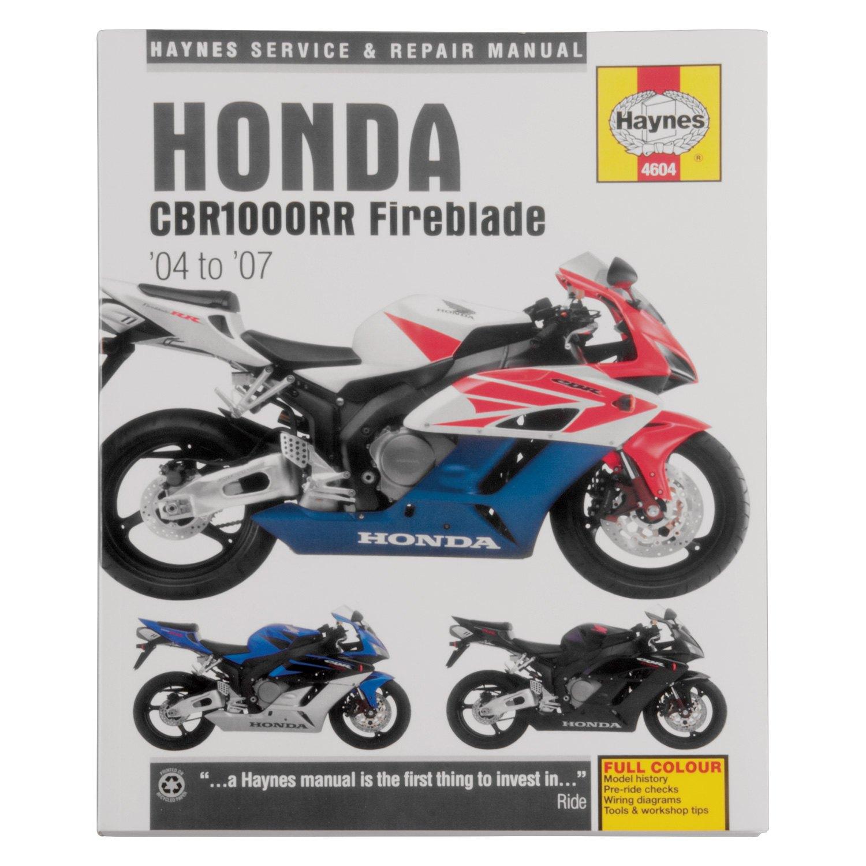 Haynes Manuals U00ae M4604 - Honda Cbr1000rr Fireblade 2004-2007 Repair Manual
