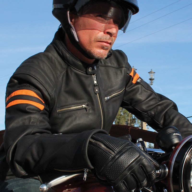 Brown//Cream, Small Joe Rocket 1326-2302 Classic 92 Mens Leather Motorcycle Jacket