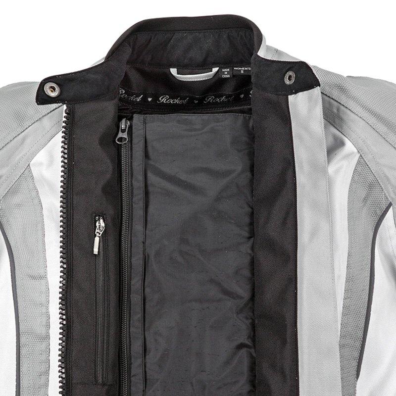 Joe Rocket Womens Atomic 5.0 Jacket Silver//White, Large
