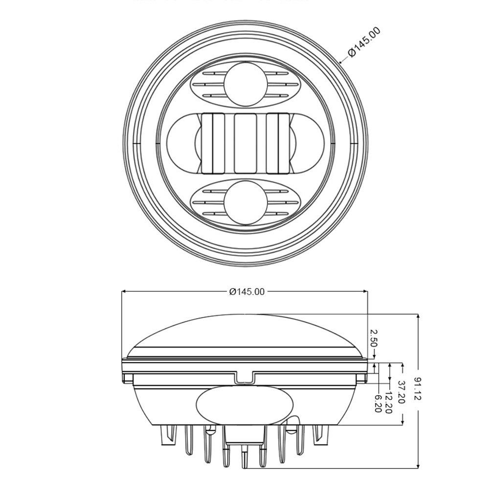 lumen u00ae - round custom sealed beam headlights