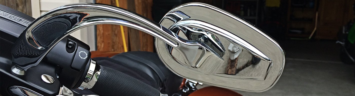 Flame Oval Chrome Motorcycle Mirrors For Kawasaki Vulcan Classic Custom 900