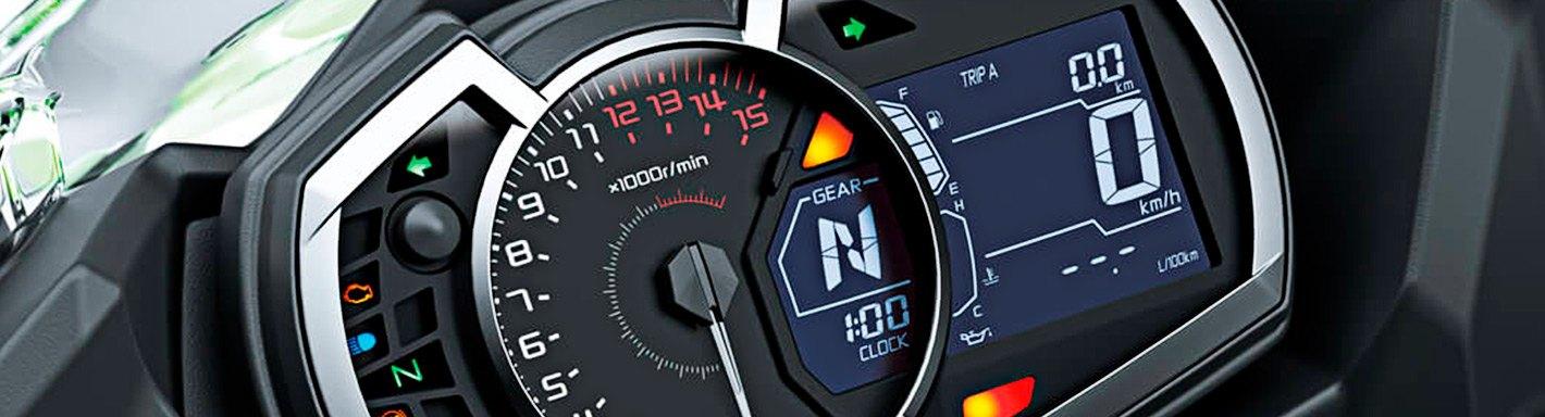 160 Mph//260Km//H Auto Meter AutoMeter 19345 Gauge Pro-Cycle 2 5//8 White 2 5//8 Speedo Elec