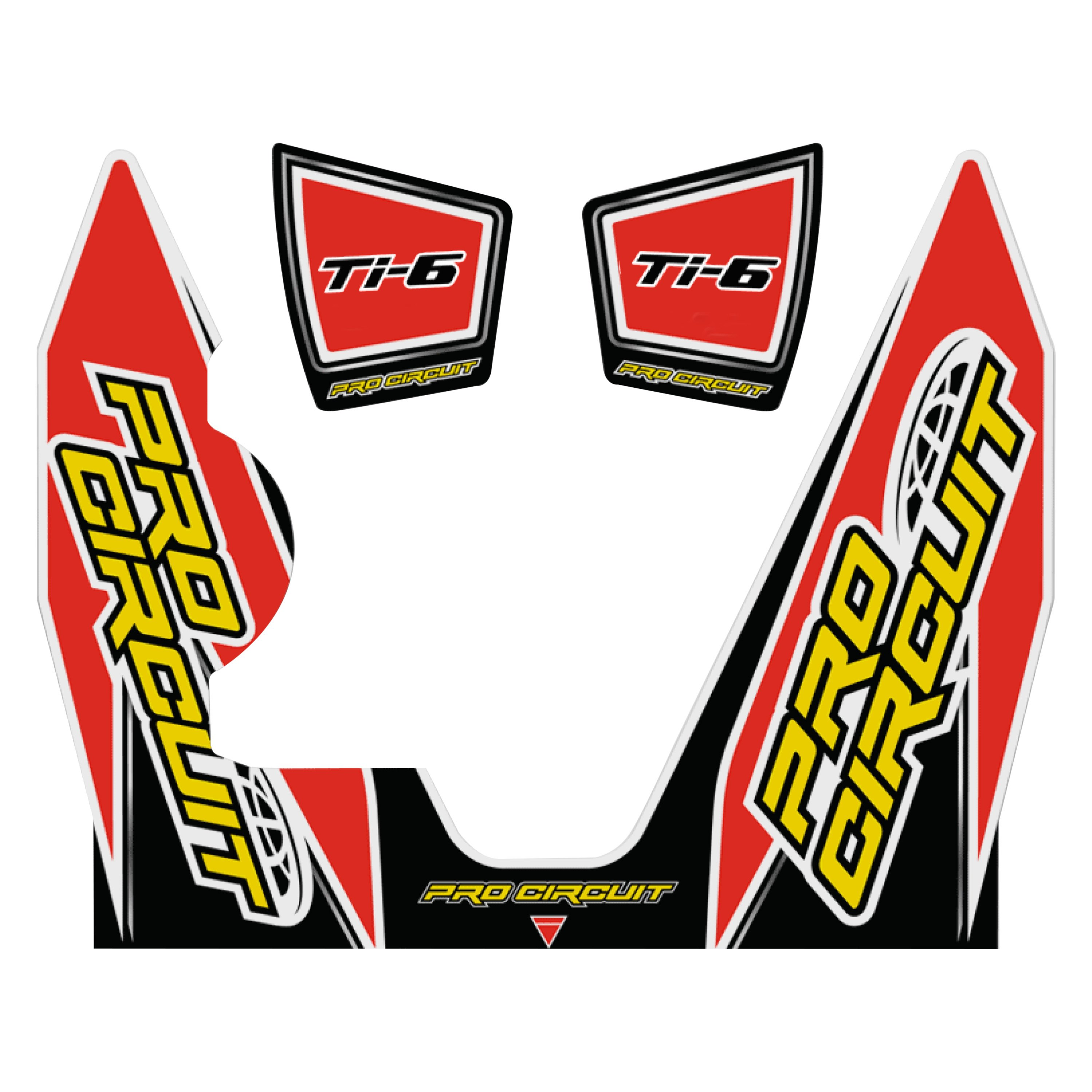 Pro Circuit DC14TI6-YZ450F Replacement Muffler Stickers Ti-6 YZ450F Decals