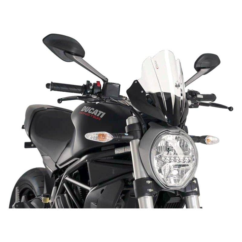 Puig Windscreen Naked New Generation 2014 2015 Ducati Diavel Black Screen//7592N