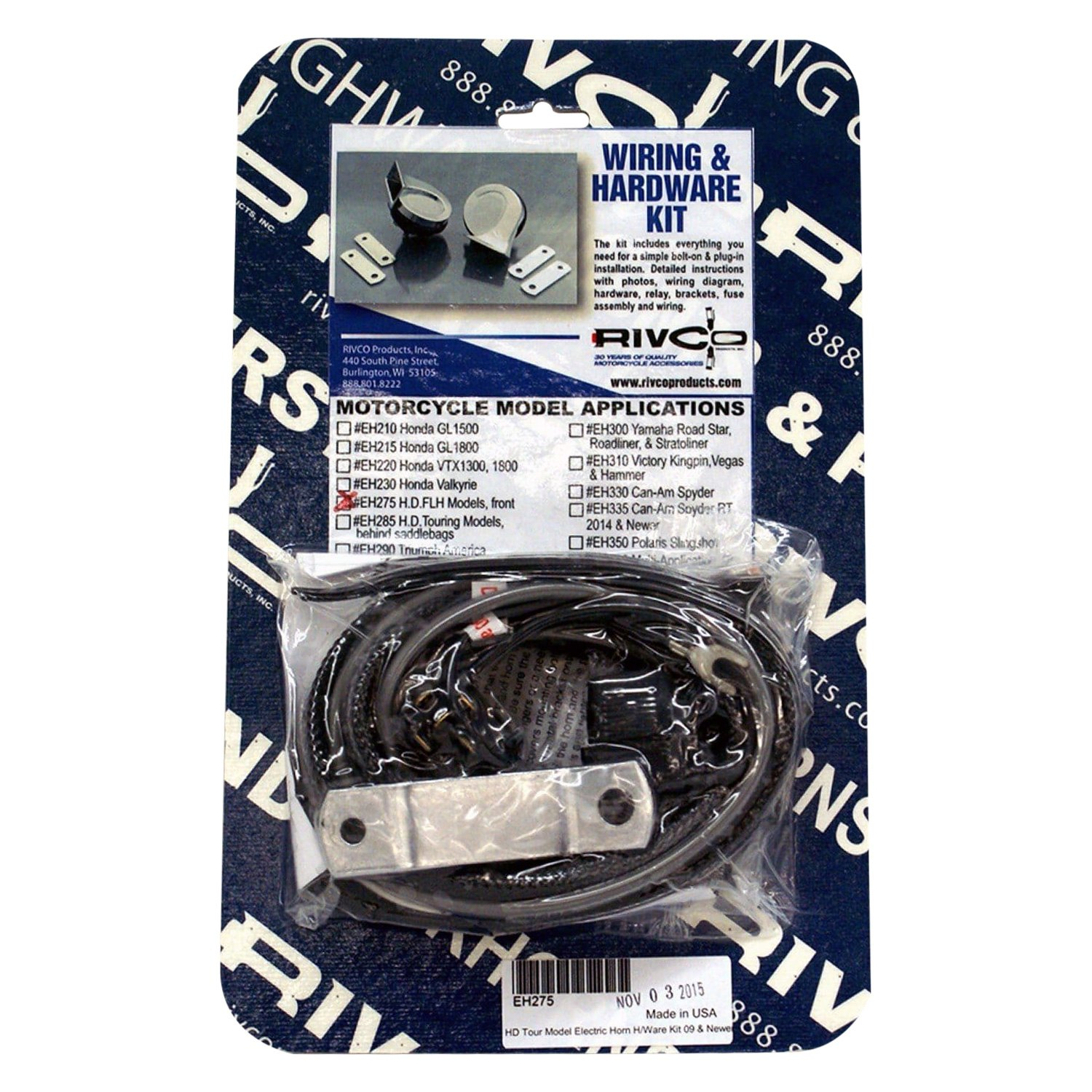 rivco® - electric horn wiring kit