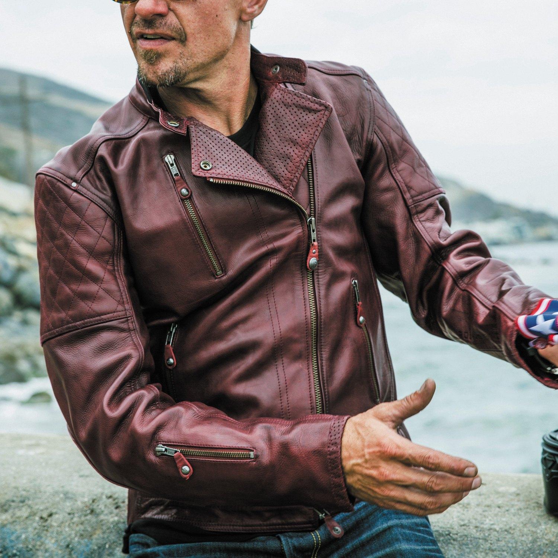 d13ea82d5 Roland Sands Design® 0801-0210-0153 - Clash Men's Leather Jacket (Medium,  Tobacco)