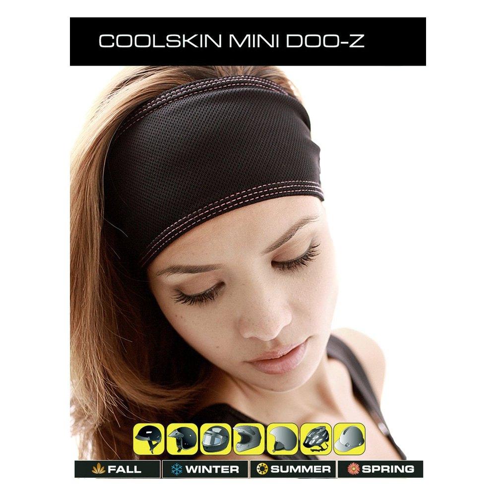 Schampa Coolskin Black//Pink Mini Doo-Z Headwrap Bandana One Size