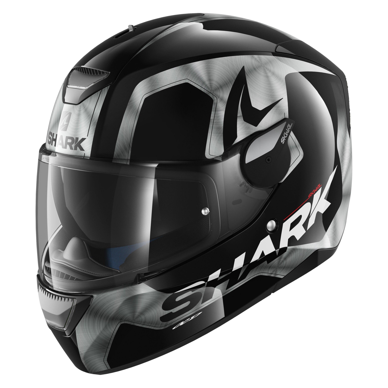 b3e01dce Shark Helmets® HE5422DKUAXS - Skwal Trion X-Small Black/Chrome ...