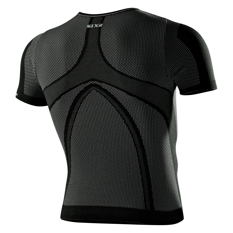 Kids Short-Sleeve Round Neck Jersey Underwear Black Carbon Small 600-0332 SIXS Boys