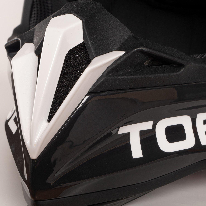Jet Black//White - Large Tobe Terminator Helmet