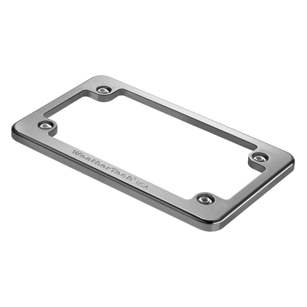 WeatherTech® 8AMPF2 - Billet Motorcycle Bright Silver License Plate ...