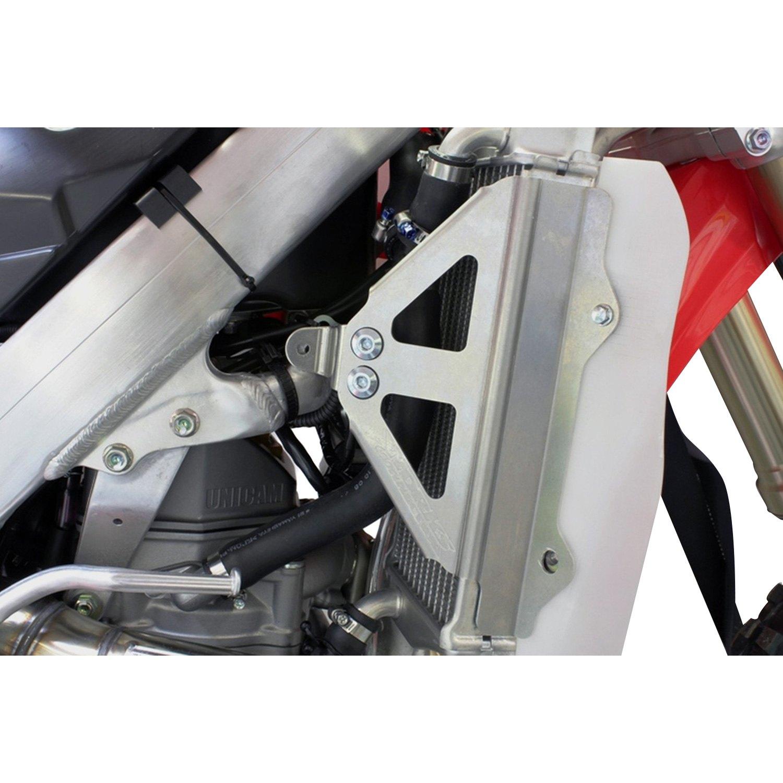 Works Connection Radiator Braces Silver Honda CRF450R 2009-2011 18-703