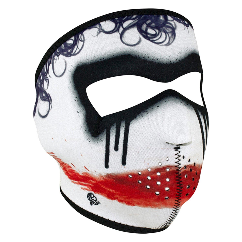 Zanheadgear joker neoprene full face mask black red white