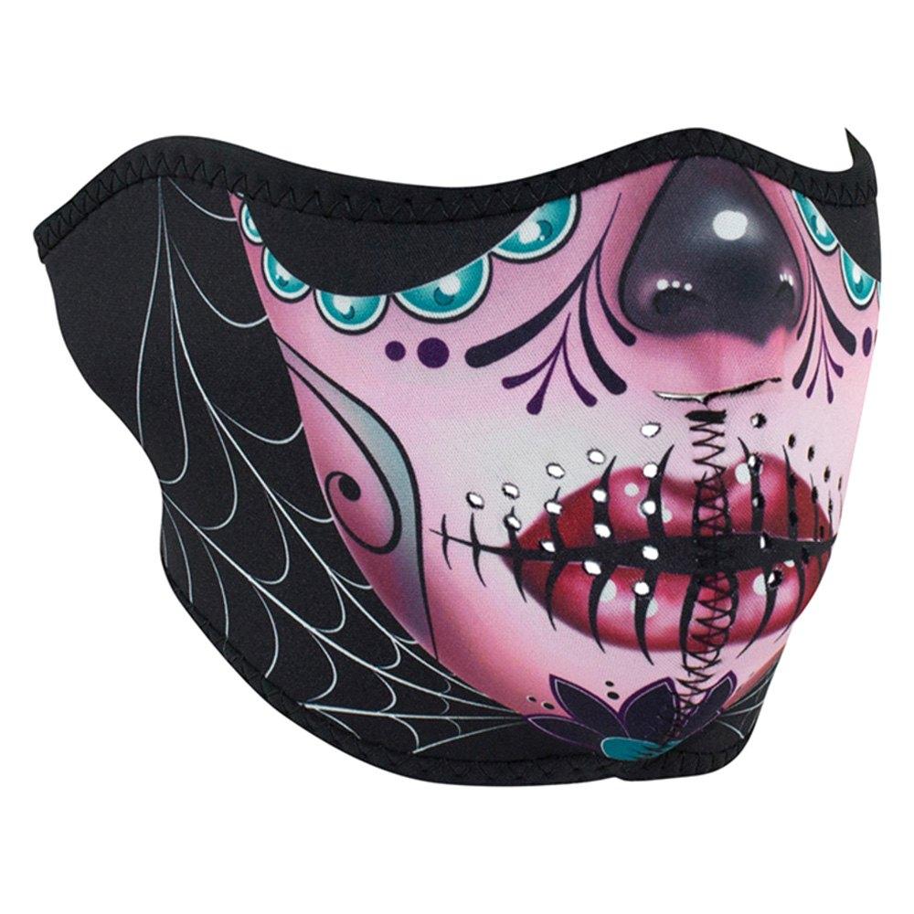 475ed51de7e ZANheadgear® WNFM082H - Neoprene Sugar Skull Half-Face Mask ...